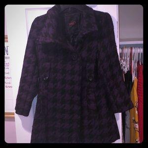 Faux wool pea coat